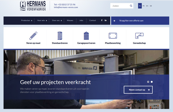 Website Hermans Verenfabriek