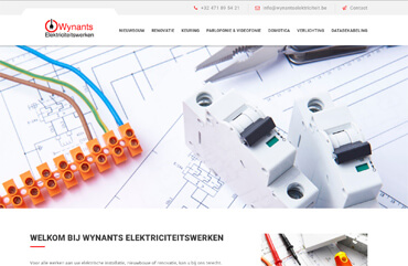 Website Wynants Elektriciteitswerken
